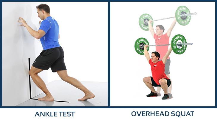 Valoración completa del tren inferior con ankle test y overhead squat