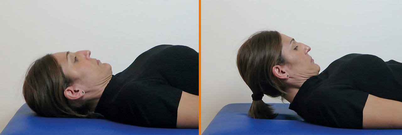 Prueba flexión craneo-cervical MVC dolor cervical